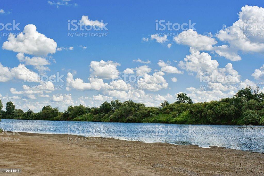 river beach royalty-free stock photo