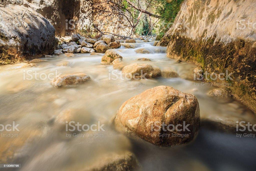 River bed Rio Chillar River In Nerja, Malaga, Spain stock photo