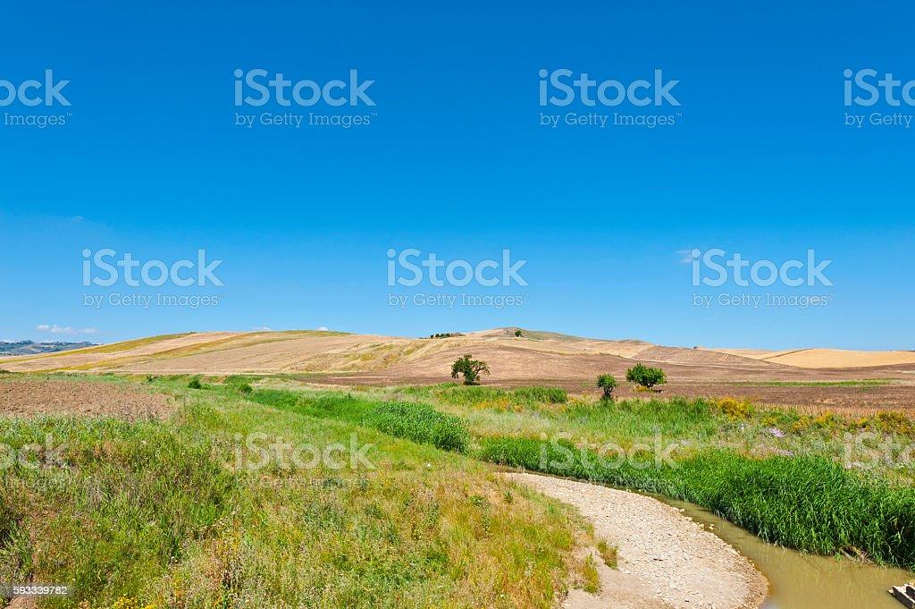 River between Hills stock photo