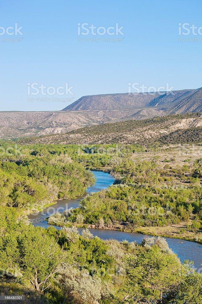 river blue desert landscape stock photo