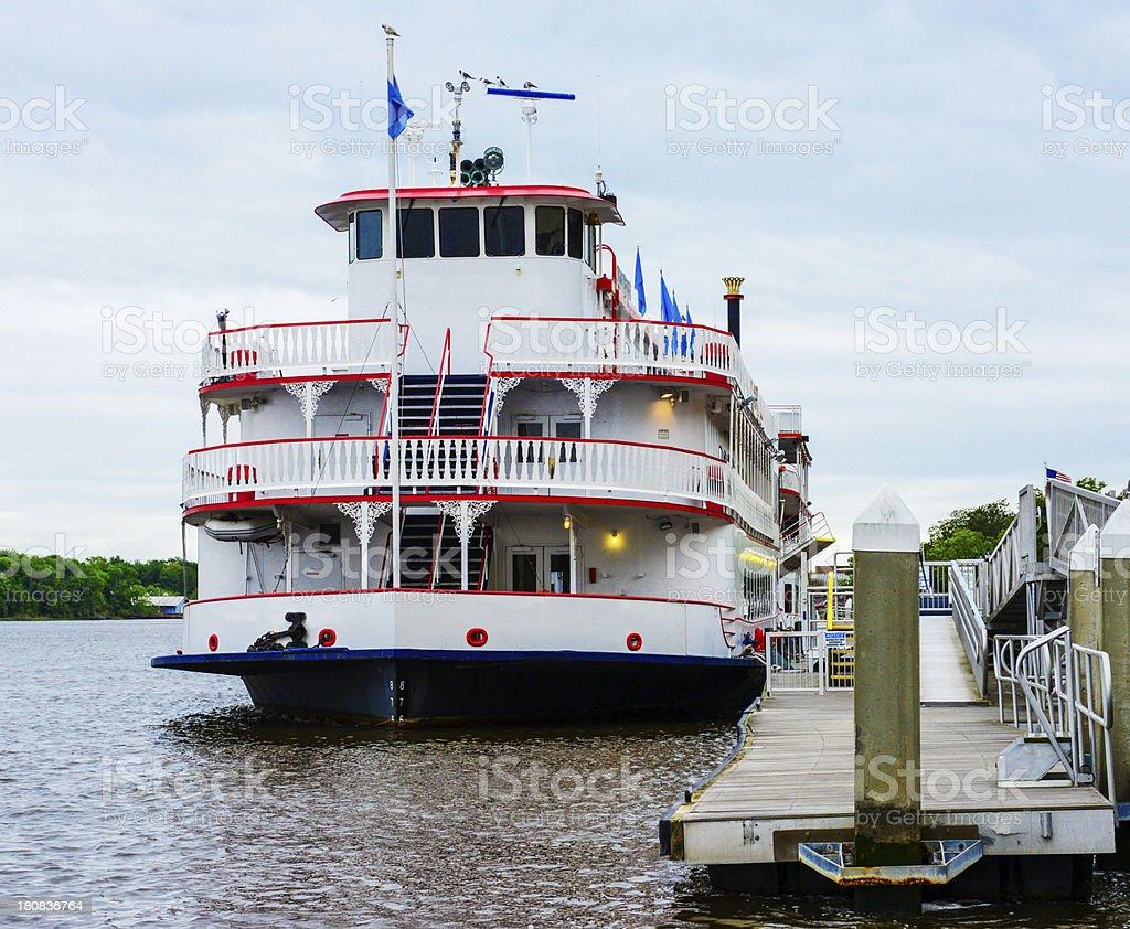 River Boat At Dockside stock photo