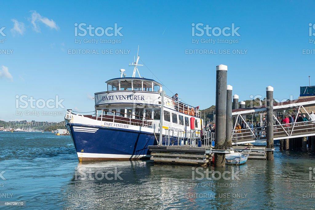 River boat in Dartmouth, Devon, UK stock photo