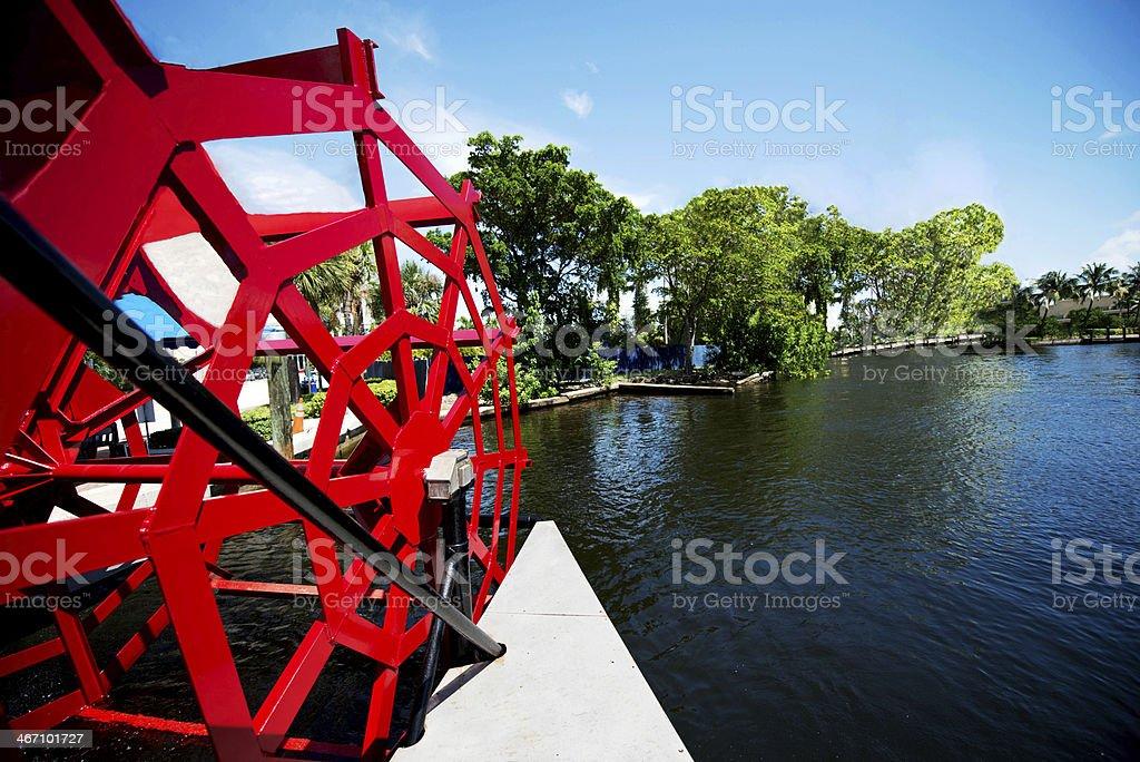 River Boat Rear stock photo