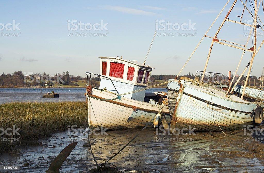 Rzeka łodzie zbiór zdjęć royalty-free