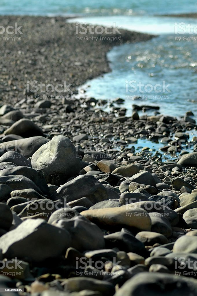 River Boulders royalty-free stock photo