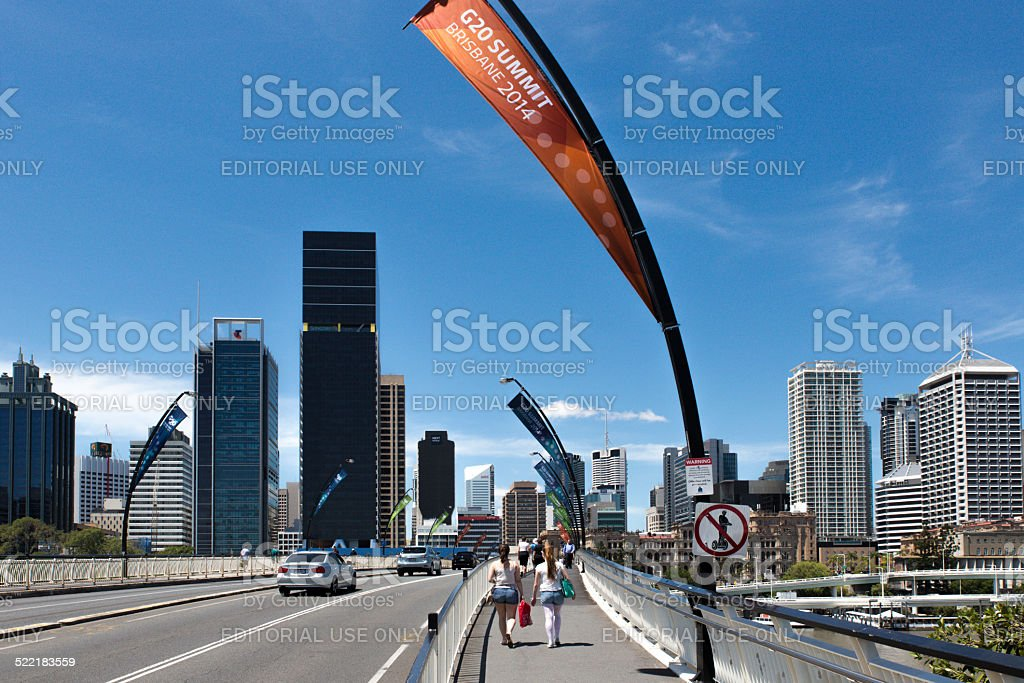 River Bridge - Brisbane G20 Conference stock photo