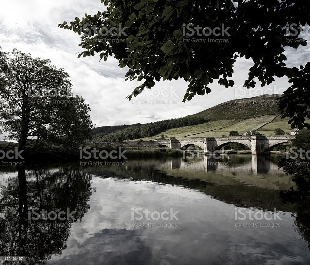 River & Bridge In The Yorkshire Dales royalty-free stock photo
