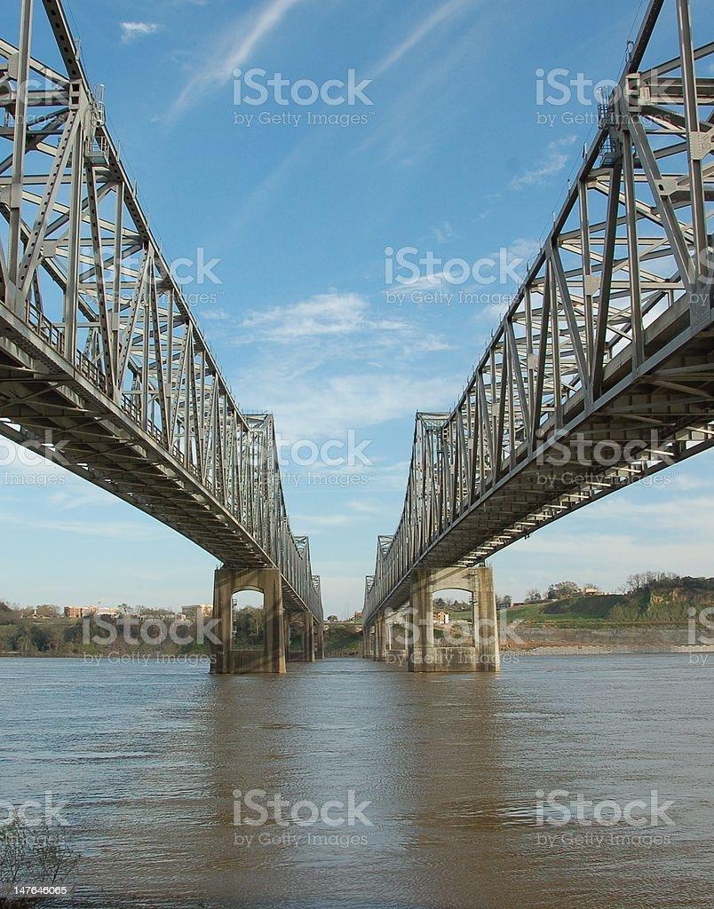 MS River Bridge stock photo
