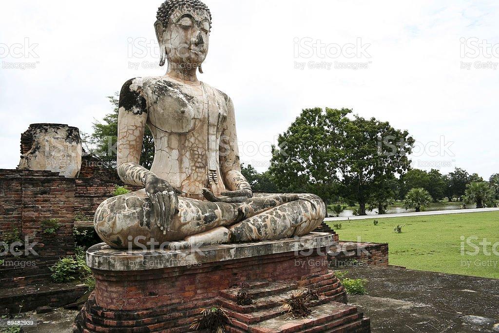 river buddha sukothai thailand royalty-free stock photo
