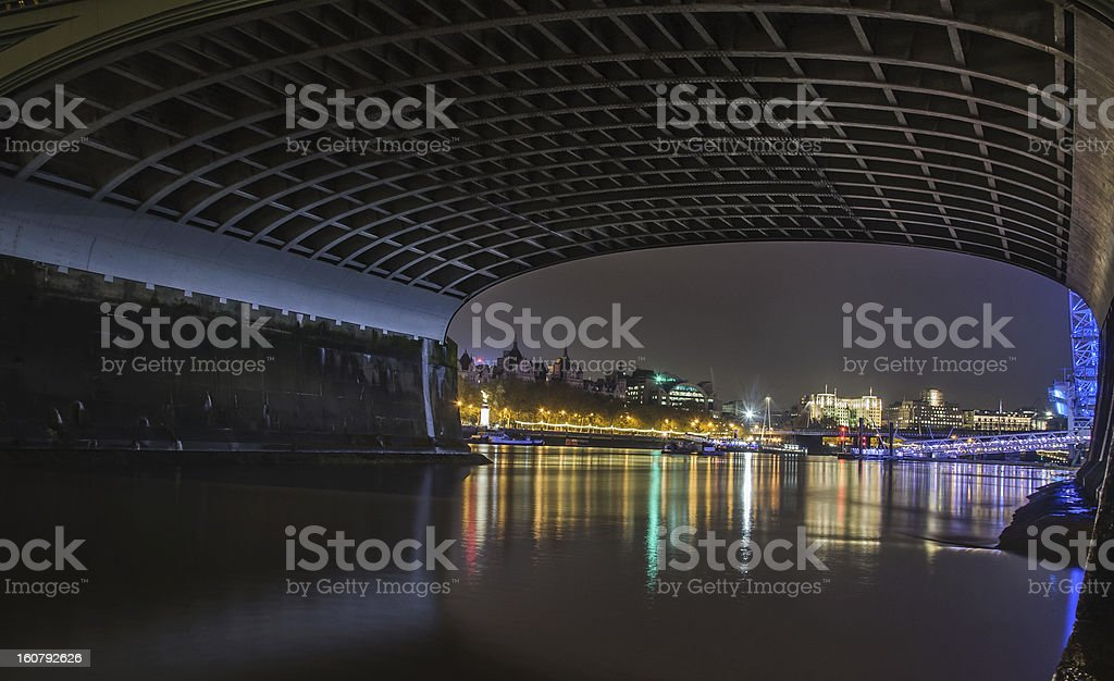 River by night royalty-free stock photo