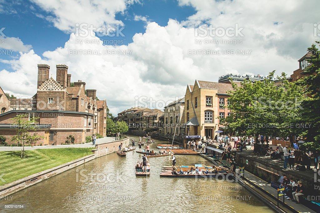 River - Cambridge, United Kingdom stock photo
