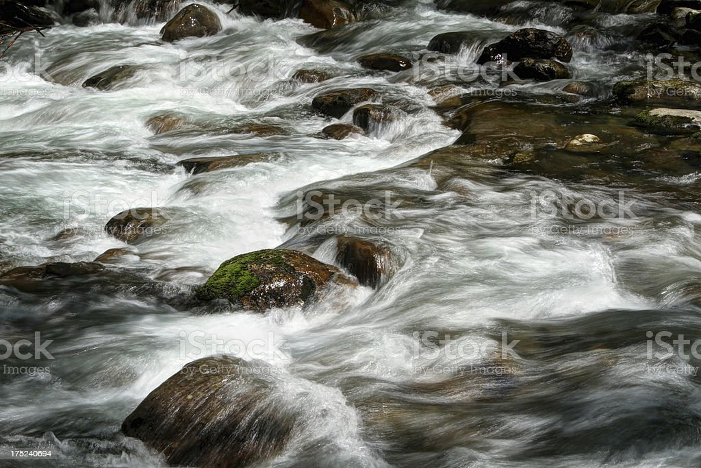 River Cascades. Porter Creek. Smoky Mountains Tennessee royalty-free stock photo