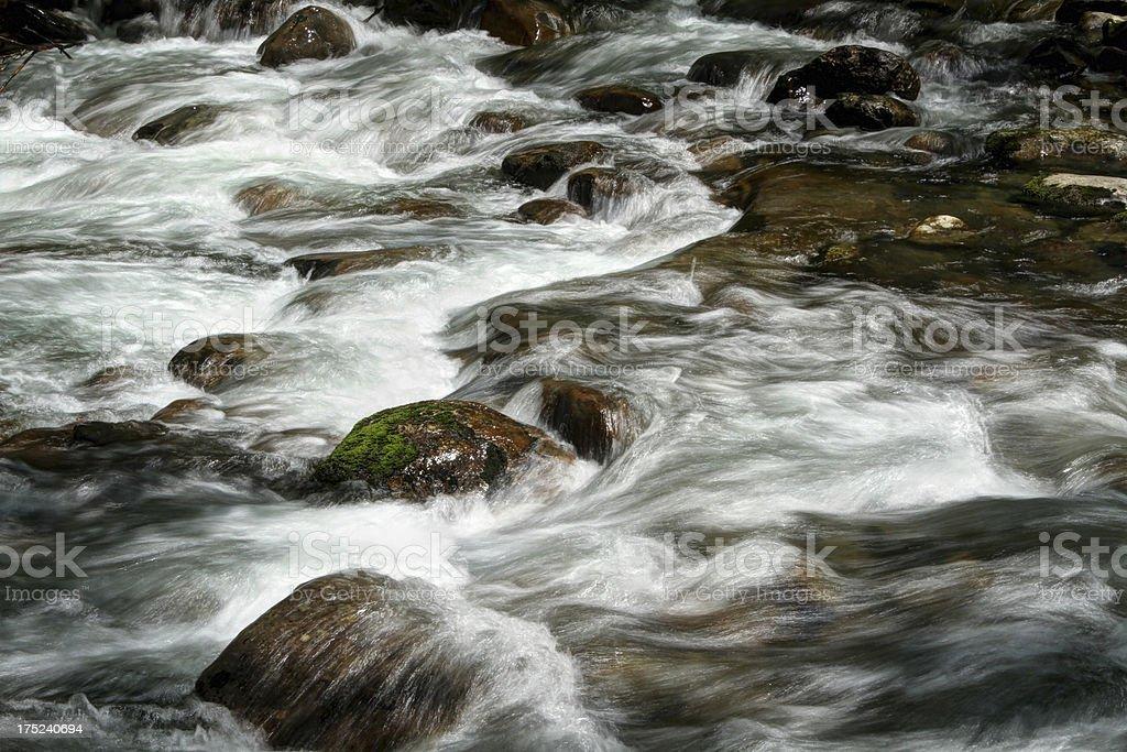 River Cascades. Porter Creek. Smoky Mountains Tennessee stock photo