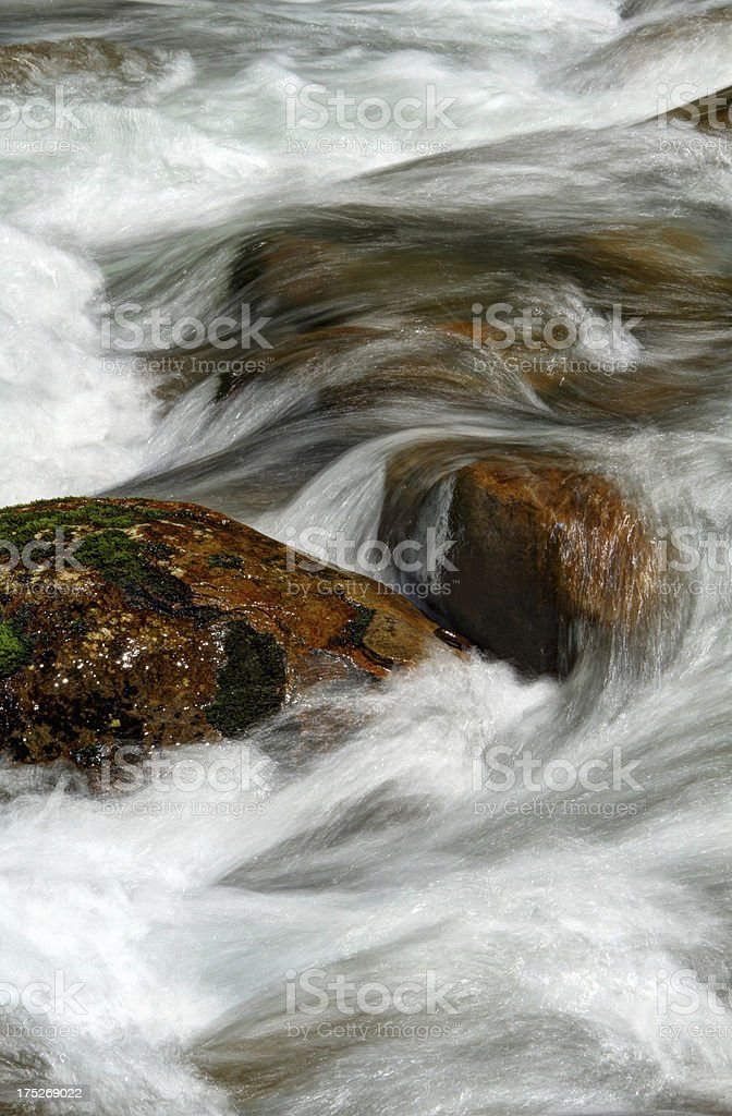 River Cascades. Porter Creek Smoky Mountains Tennessee stock photo