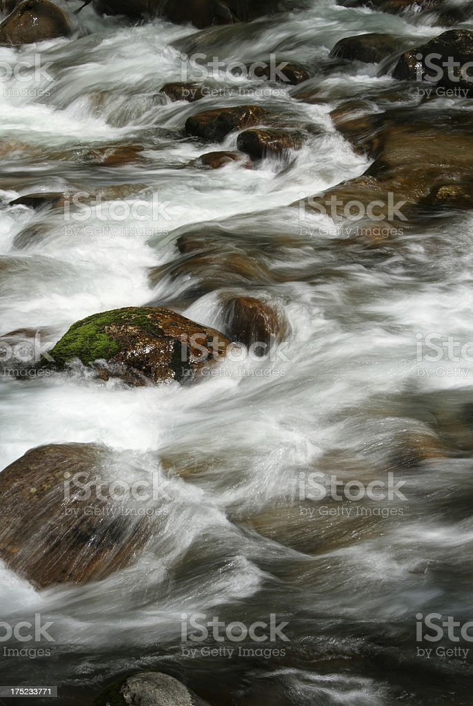 River Cascades. Smoky Mountains Tennessee stock photo