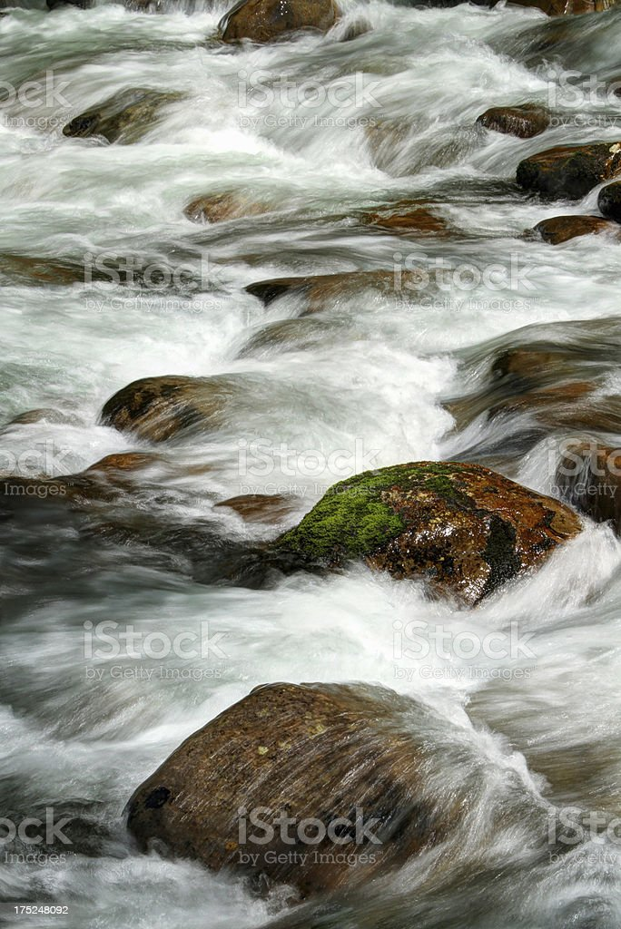 River Cascades Smoky Mountains Tennessee stock photo