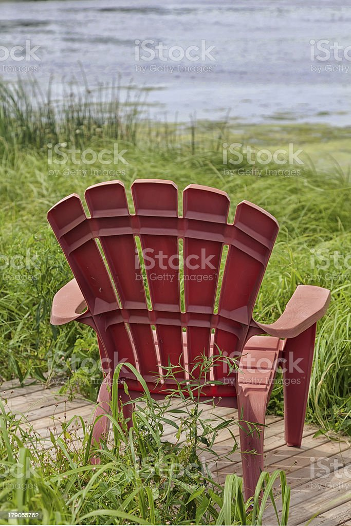 River Chairs royalty-free stock photo