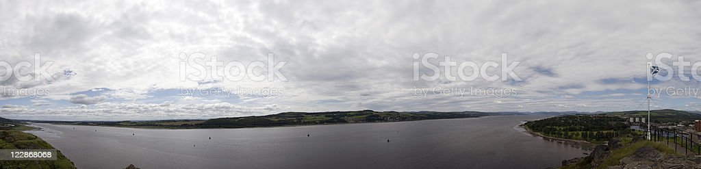 River Clyde - 180-degree Panorama royalty-free stock photo