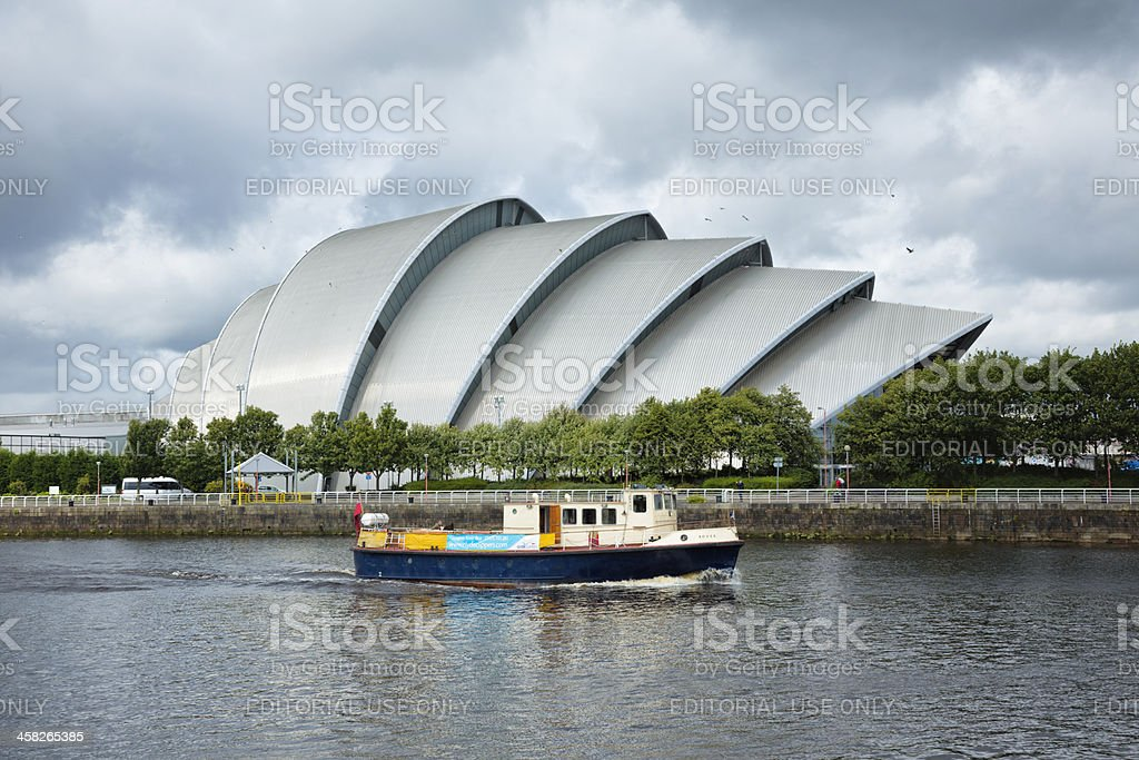 River Clyde Ferry, Glasgow stock photo