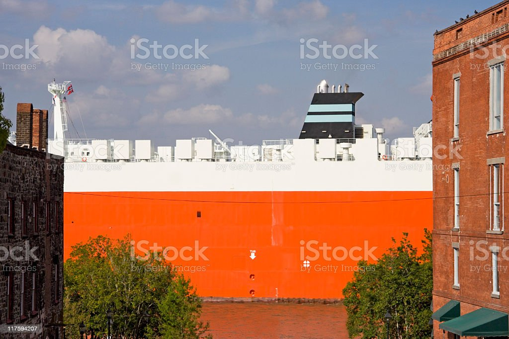 River Commerce stock photo