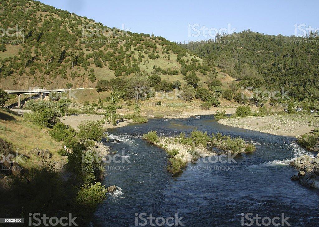 River Confluence stock photo