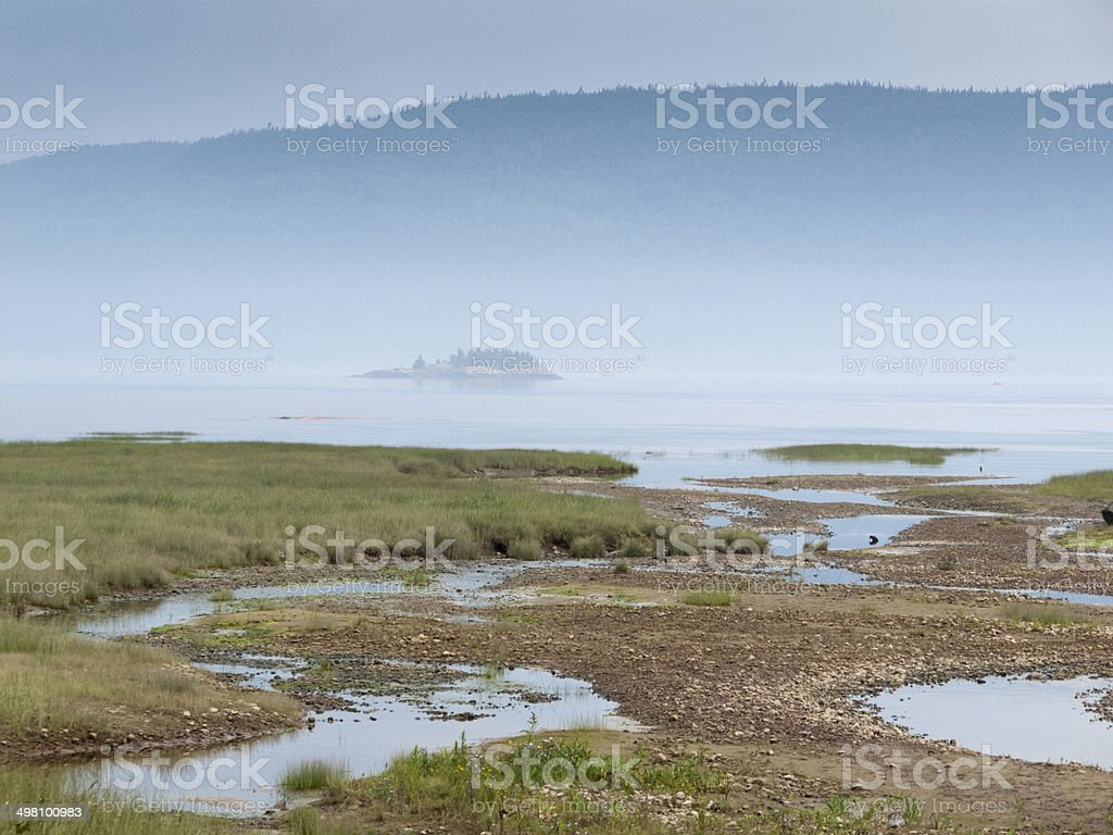 River confluence, Quebec, Canada royalty-free stock photo