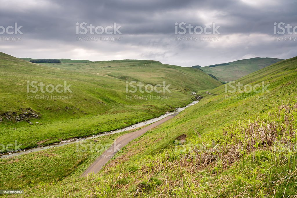 River Coquet in the Cheviot Hills stock photo