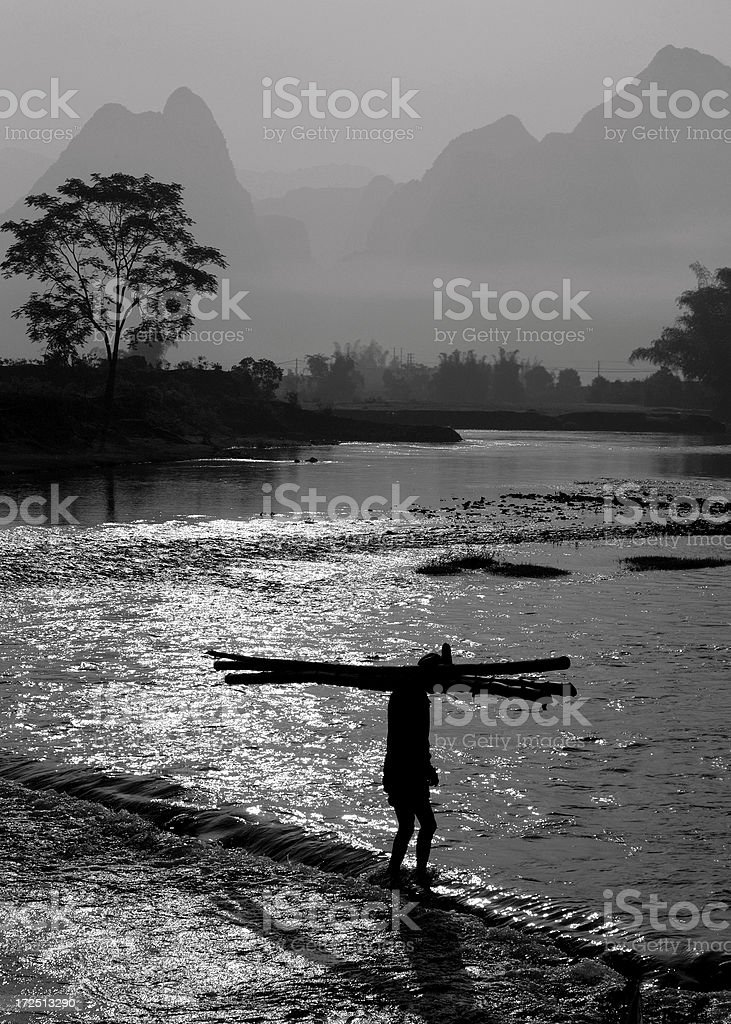River Crossing royalty-free stock photo