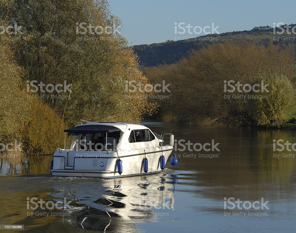 River Cruising on the Avon, Worcestershire royalty-free stock photo