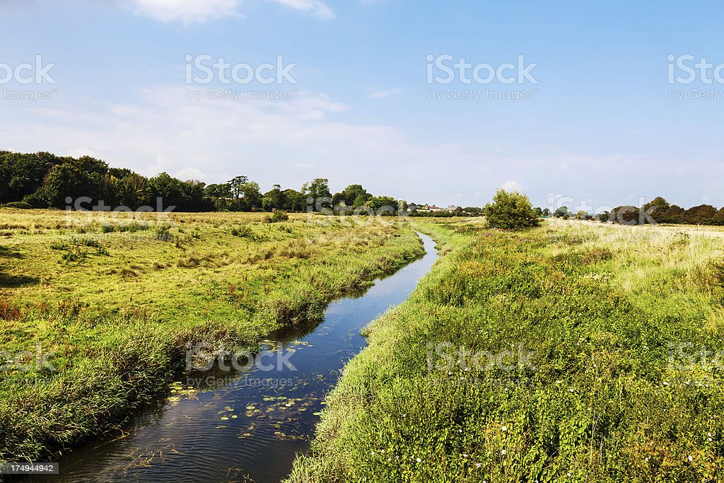 River Cuckmere in East Sussex, England stock photo