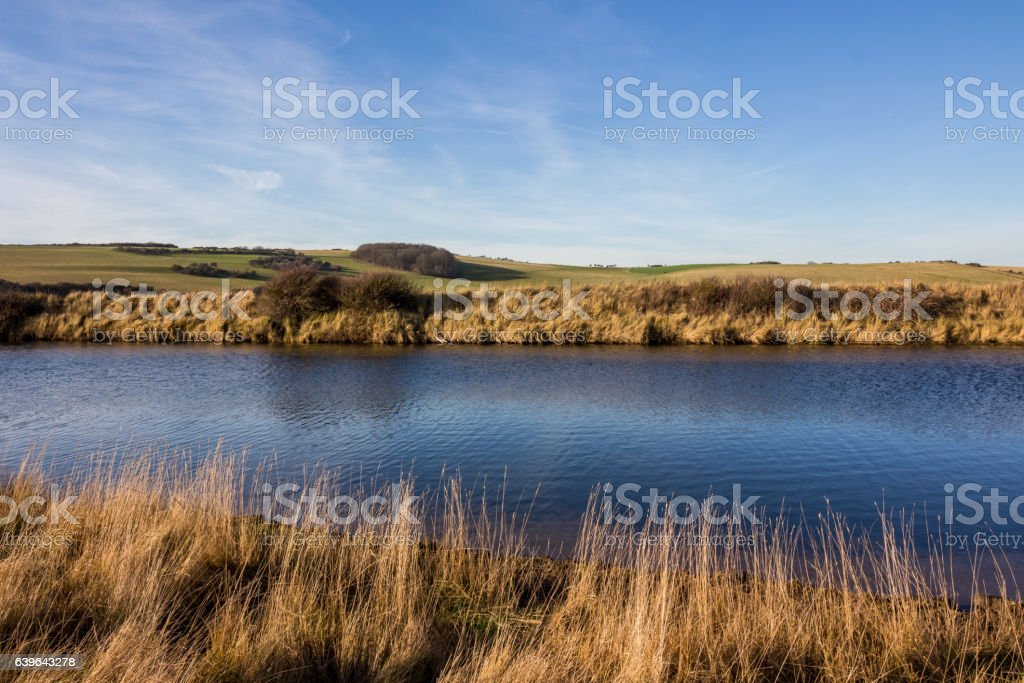 River Cuckmere, Sussex stock photo