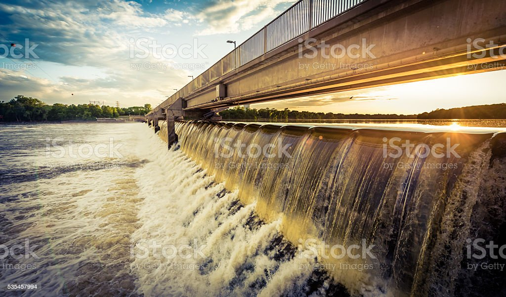 River Dam 6/6 stock photo