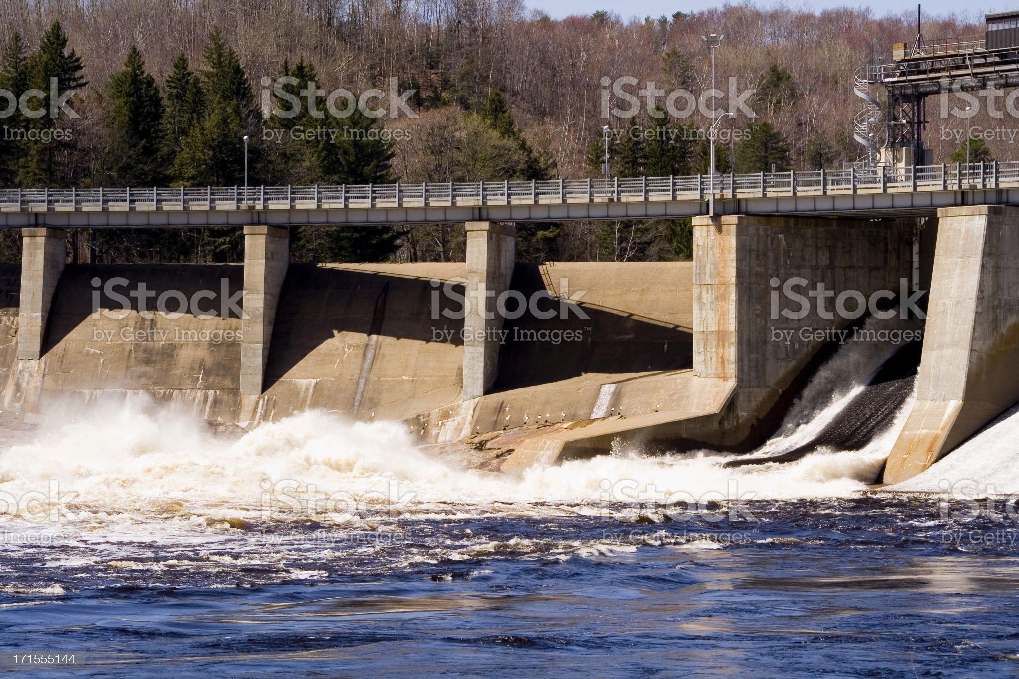River dam royalty-free stock photo