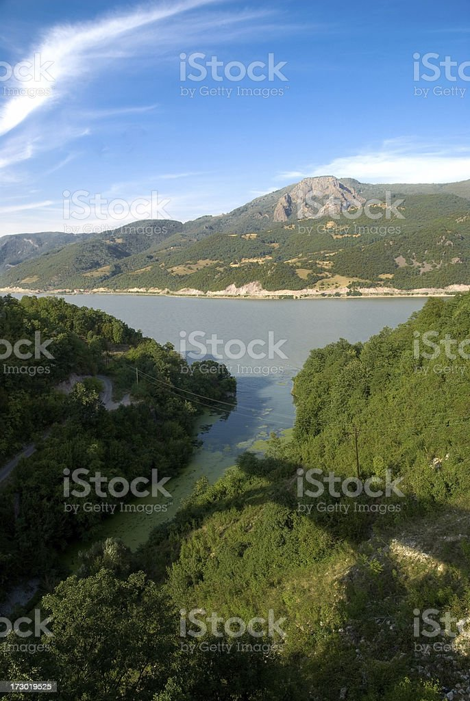 River Danube in canyon Djerdap-Serbia royalty-free stock photo