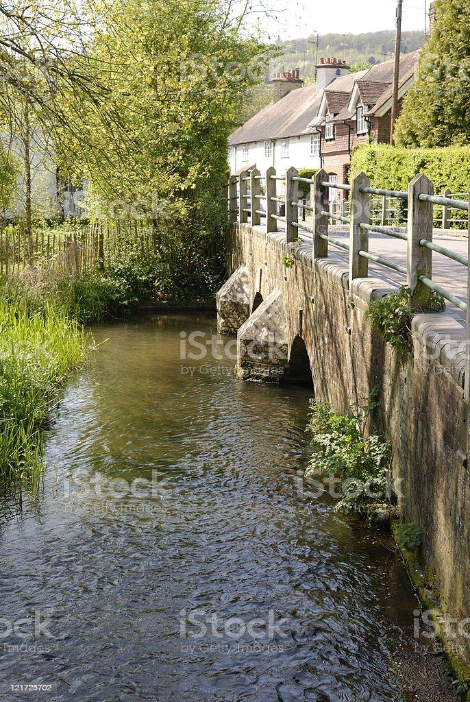 River Darent at Shoreham. Kent. England. stock photo