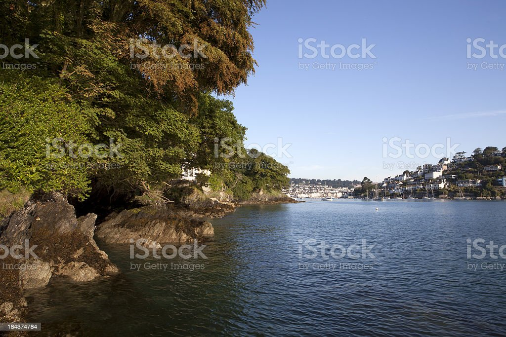 River Dart and Dartmouth Harbour stock photo