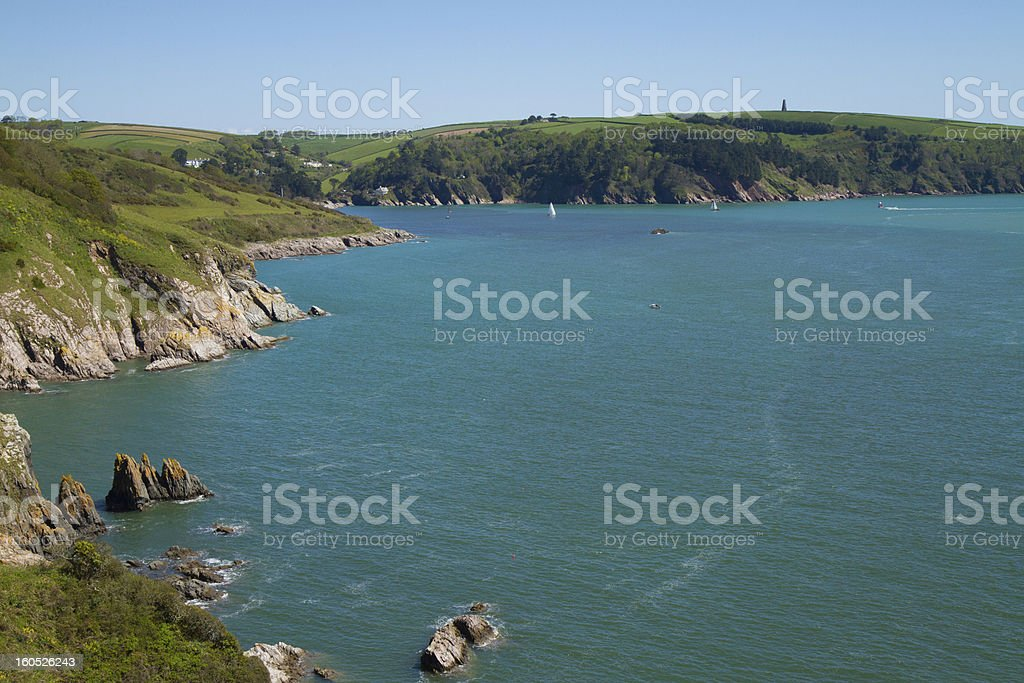 River Dart Estuary Dartmouth Devon stock photo