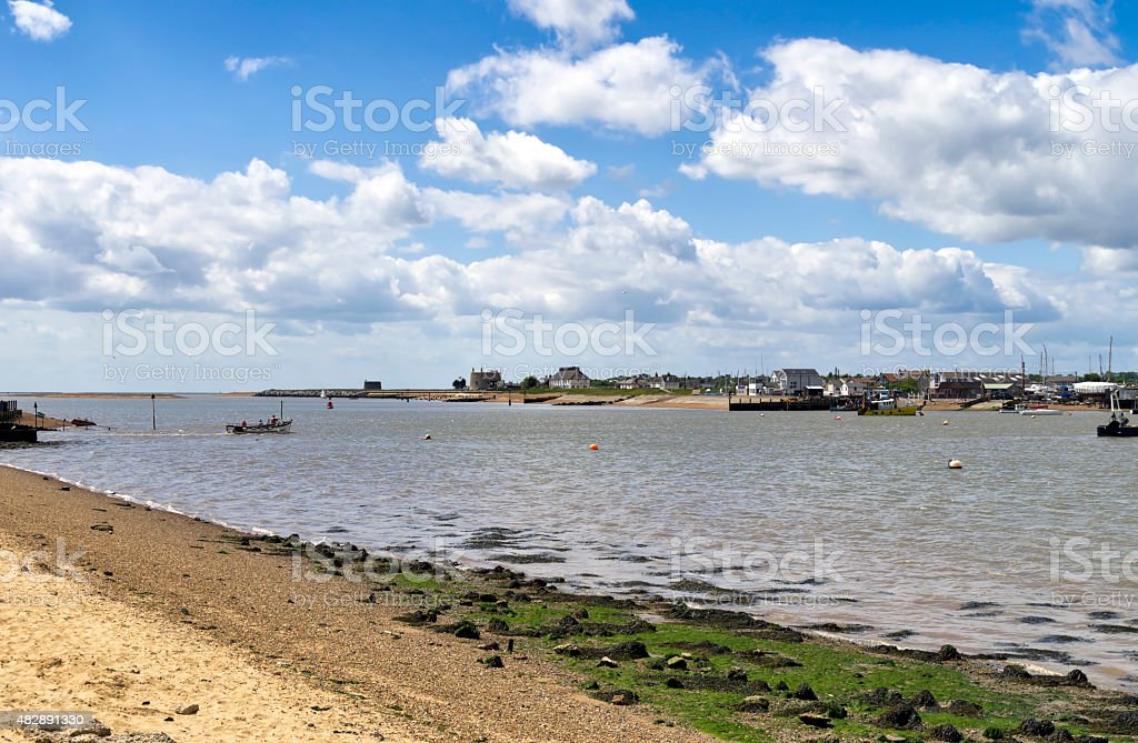 River Deben from Bawdsey stock photo