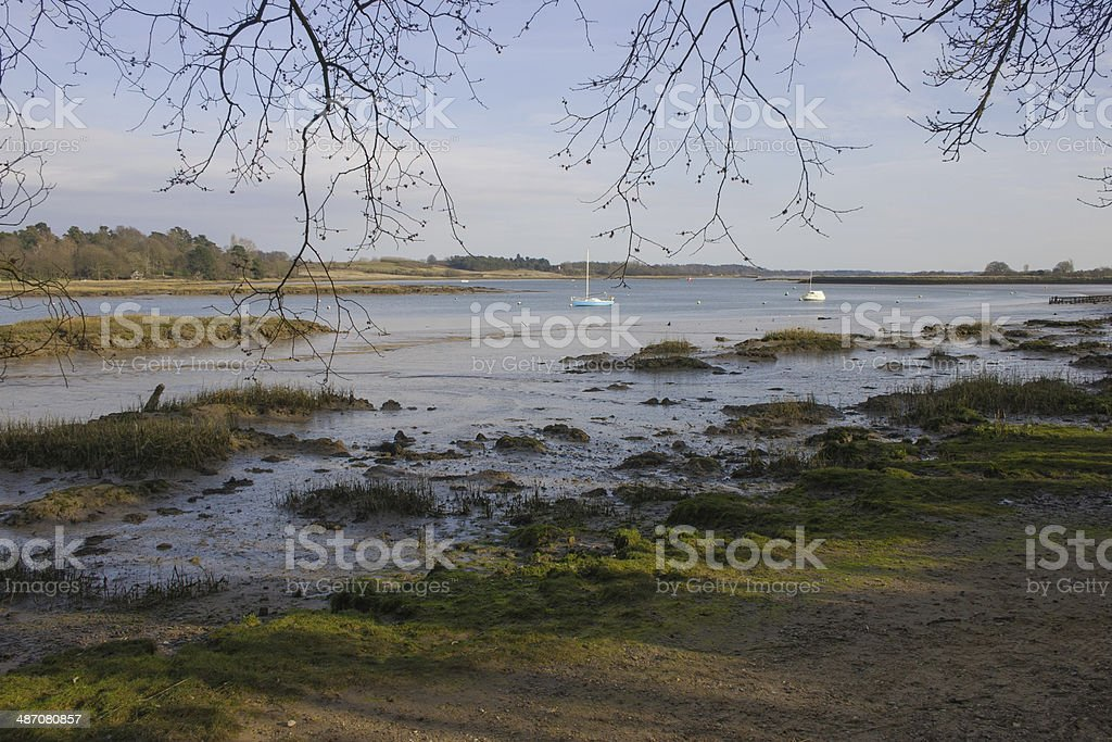 River Deben from Kyson Point stock photo