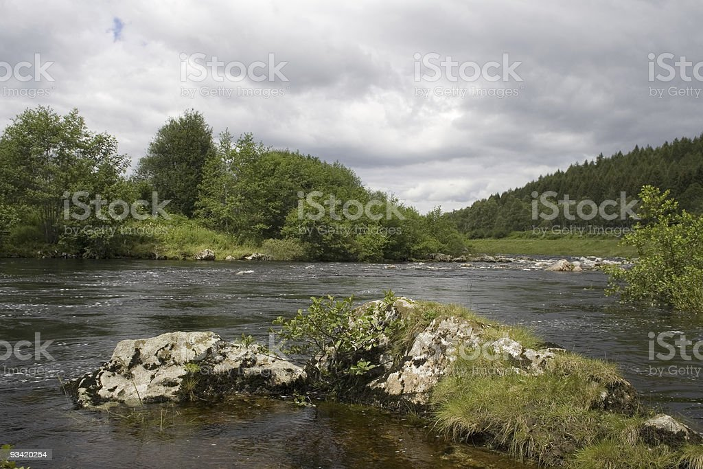 River Dee, Aberdeenshire royalty-free stock photo