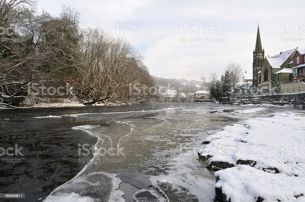 River Dee and Llangollen royalty-free stock photo