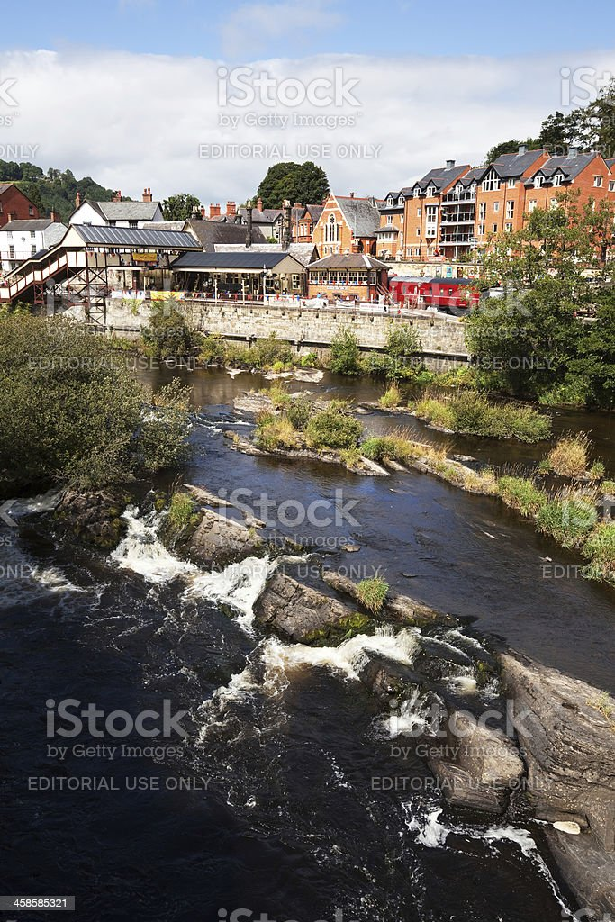 River Dee and Llangollen Railway Station, Wales royalty-free stock photo