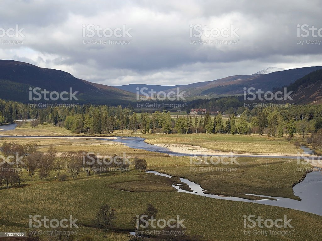 River Dee area, west of Braemar, Scotland. royalty-free stock photo
