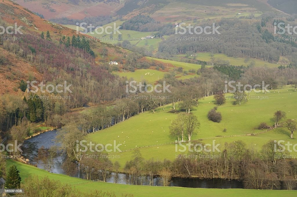 River Dee at Llantisilio stock photo