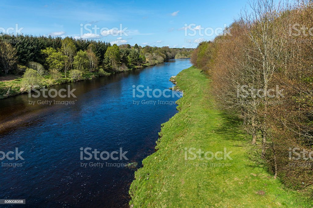 River Dee at Park stock photo