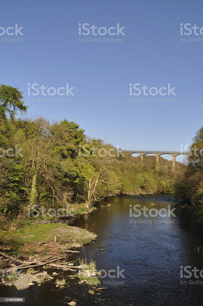 River Dee at Pontcysyllte royalty-free stock photo