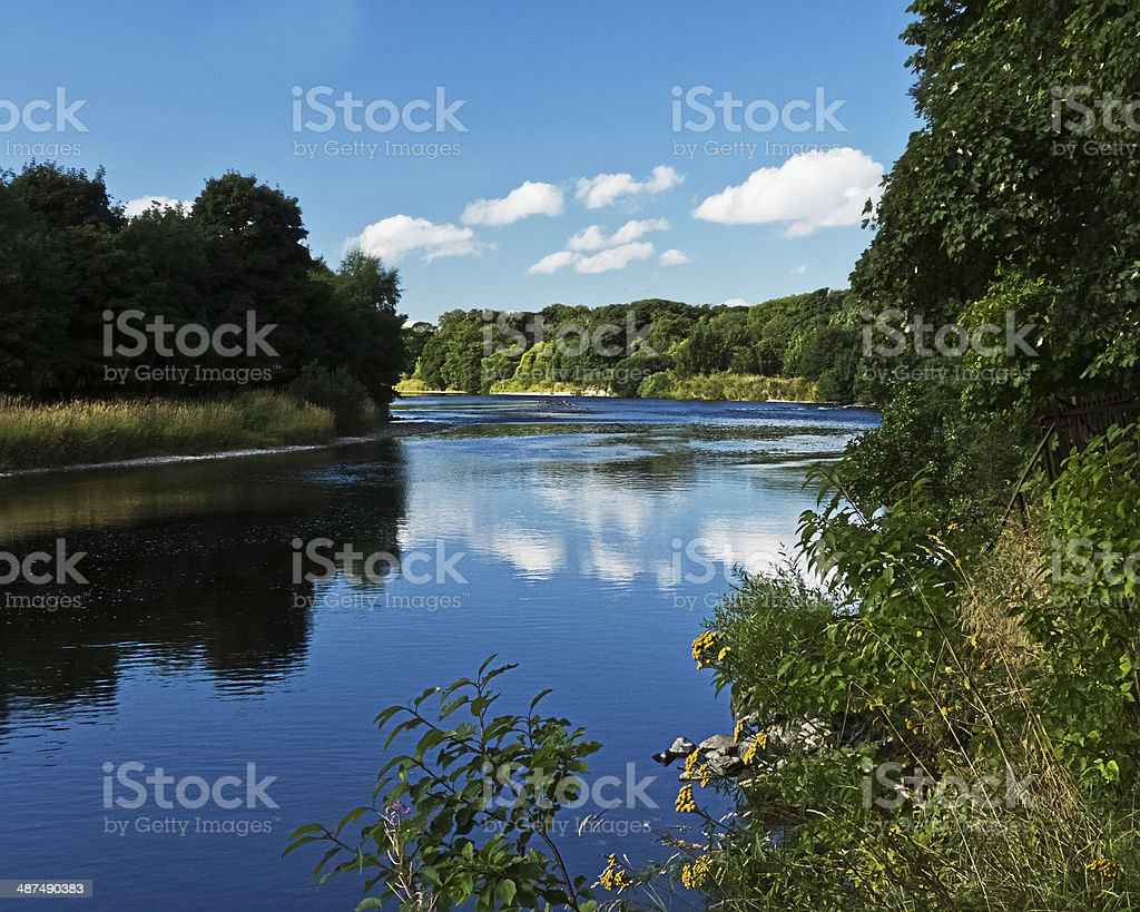 River Dee bend. royalty-free stock photo