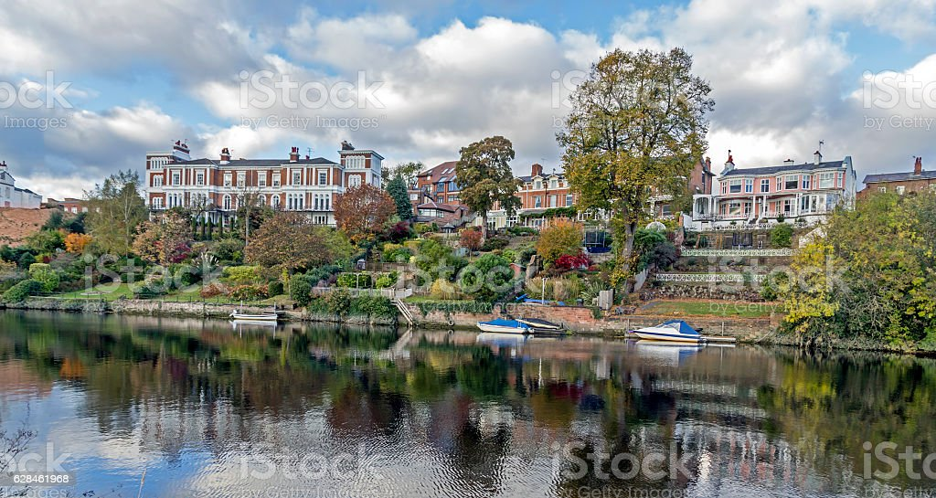 River Dee Chester stock photo