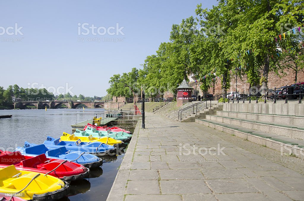 River Dee in Chester City royalty-free stock photo