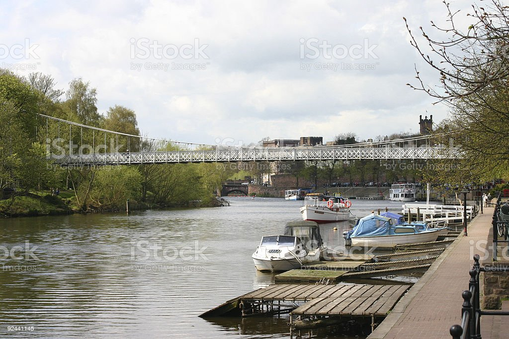 River Dee in Chester royalty-free stock photo